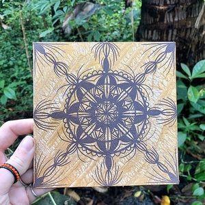 Handmade Metallic Mandala Painting Mini